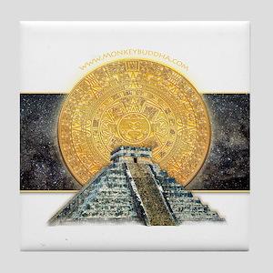 Gold Sun Stone Pyramid Tile Coaster