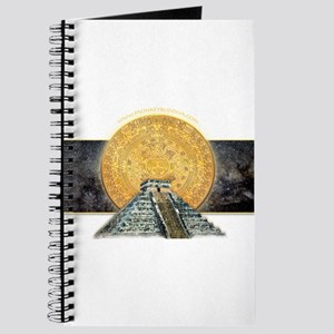 Gold Sun Stone Pyramid Journal