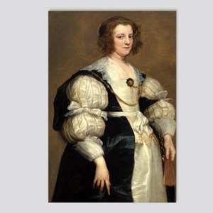 Lady with a Fan by Sir Anthony van Dyck Postcards