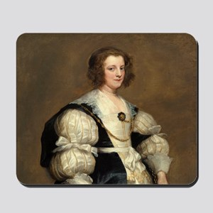 Lady with a Fan by Sir Anthony van Dyck Mousepad
