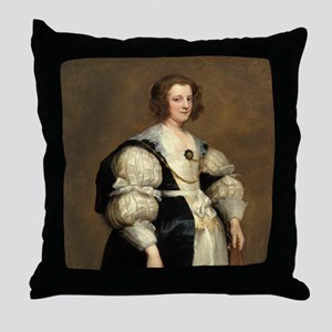 Lady with a Fan by Sir Anthony van Dyck Throw Pill