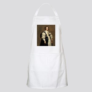 Lady with a Fan by Sir Anthony van Dyck Apron