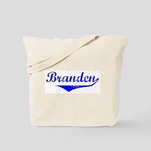 Branden Vintage (Blue) Tote Bag