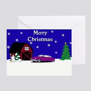 Lead Sled Christmas Greeting Card