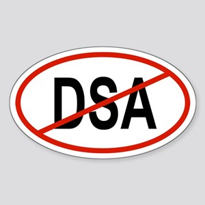 DSA Oval Sticker