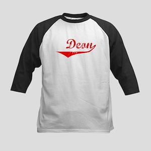 Deon Vintage (Red) Kids Baseball Jersey