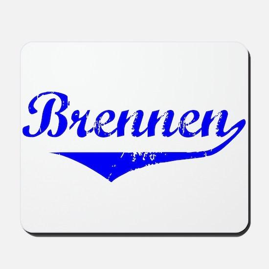 Brennen Vintage (Blue) Mousepad