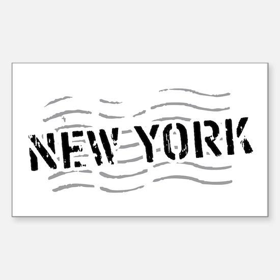 New York Rectangle Decal