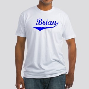 Brian Vintage (Blue) Fitted T-Shirt