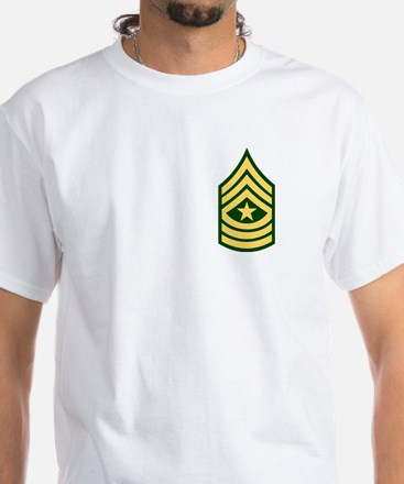 Sergeant Major<BR> White T-Shirt