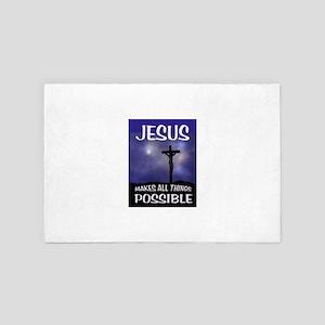 JESUS POSSIBLE 4' x 6' Rug