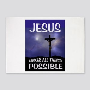 JESUS POSSIBLE 5'x7'Area Rug