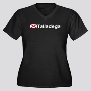 Talladega Women's Plus Size V-Neck Dark T-Shirt