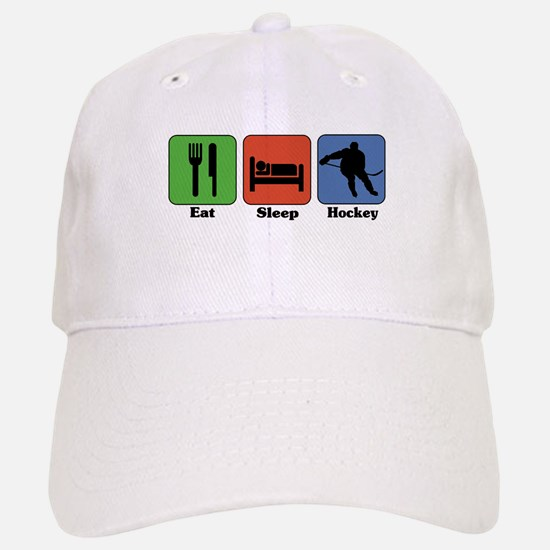 Eat Sleep Hockey Baseball Baseball Cap