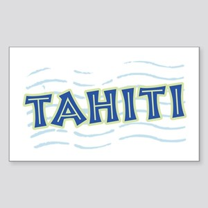 Tahiti Rectangle Sticker