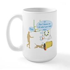 Body Says Large Mug