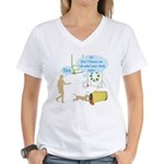 Body Says Women's V-Neck T-Shirt
