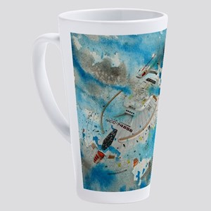 Voyager Water Color 17 oz Latte Mug