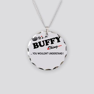 BUFFY thing, you wouldn't un Necklace Circle Charm