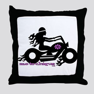 Motochique Throw Pillow