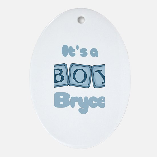 It's A Boy - Bryce Oval Ornament