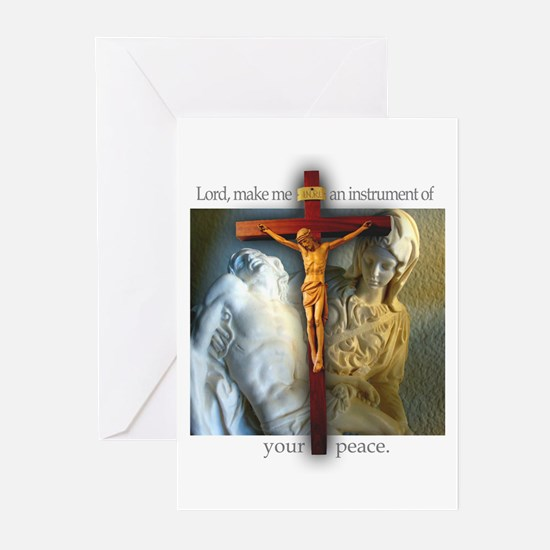 Crucifix/Pieta/St. Francis Greeting Cards (6)
