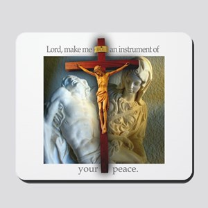 Crucifix/Pieta Mousepad