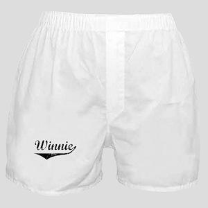 Winnie Vintage (Black) Boxer Shorts