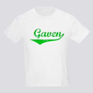 Gaven Vintage (Green) Kids Light T-Shirt