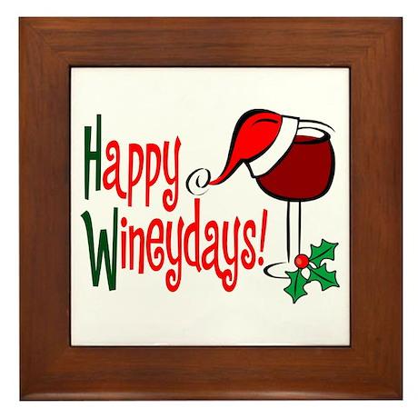 Happy Wineydays Framed Tile