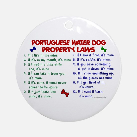 Portuguese Water Dog Property Laws 2 Ornament (Rou