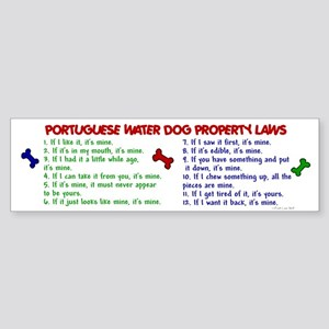 Portuguese Water Dog Property Laws 2 Sticker (Bump