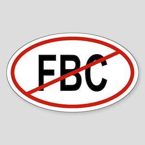 FBC Oval Sticker
