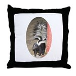 Little Skunk Big Tail Throw Pillow
