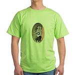 Little Skunk Big Tail Green T-Shirt