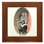 Little Skunk Big Tail Framed Tile