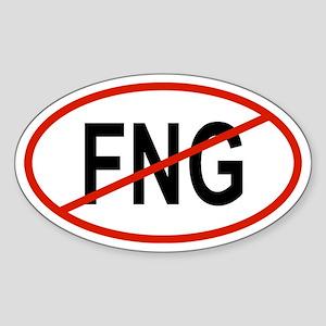 FNG Oval Sticker