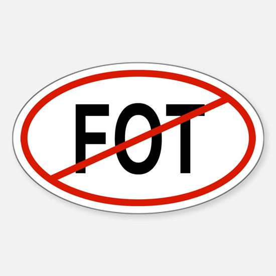 FOT Oval Decal