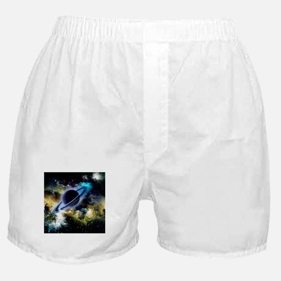 The universe with planet and stars Boxer Shorts