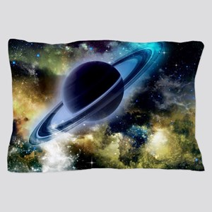 The universe with planet and stars Pillow Case