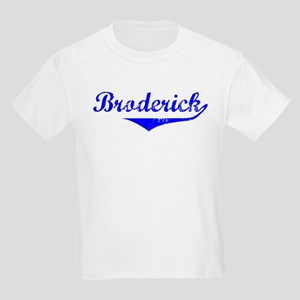 Broderick Vintage (Blue) Kids Light T-Shirt