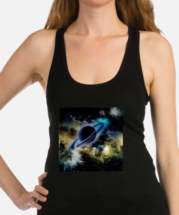 The universe with planet and stars Tank Top