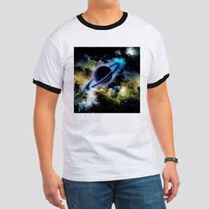 The universe with planet and stars T-Shirt