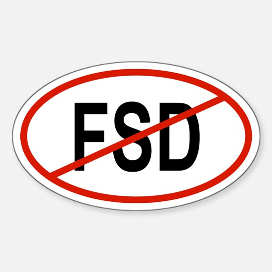 FSD Oval Decal
