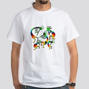 Five Kokopelli Jam Session White T-Shirt