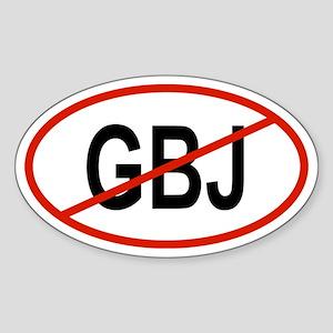 GBJ Oval Sticker