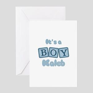 It's A Boy - Kaleb Greeting Card