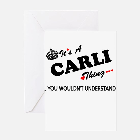 CARLI thing, you wouldn't understan Greeting Cards