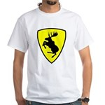 White T-Shirt, 10 inch moose FRONT