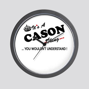 CASON thing, you wouldn't understand Wall Clock